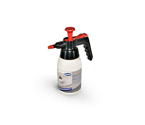 Pump bottle with worktable system protective spray