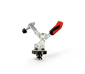 Vertical toggle clamp with adaptor and countersunk screw