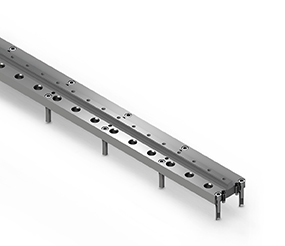 Support and base rail LINEAR